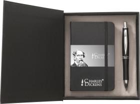 L'objet publicitaire Parure de luxe Notebook A6 Charles Dickens