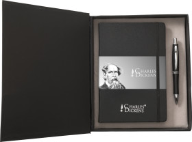 L'objet publicitaire Parure de luxe Notebook A5 Charles Dickens