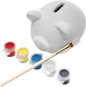 L'objet publicitaire Cochon d'épargne Piggy avec peinture