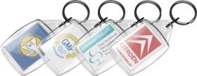 L'objet publicitaire Porte-clés transparent Crystal