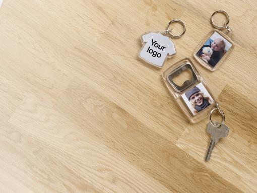 Imprimer l'objet publicitaire Porte-clés transparent Crystal