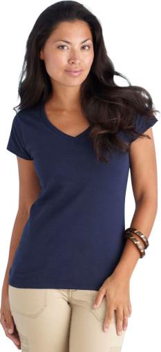 L'objet publicitaire Gildan t-shirt Soft Style V-neck for her