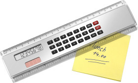 L'objet publicitaire Règle de 20 cm avec calculatrice