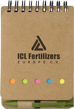 L'objet publicitaire Carnet de notes avec stylo Eco
