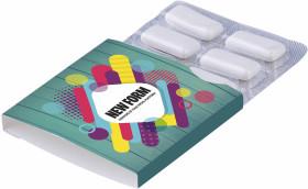 L'objet publicitaire Blister de chewing-gum 6 pièces