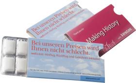 L'objet publicitaire Blister de chewing-gum 12 pièces