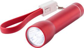 L'objet publicitaire Powerbank Lampe avec Cordon de poignet