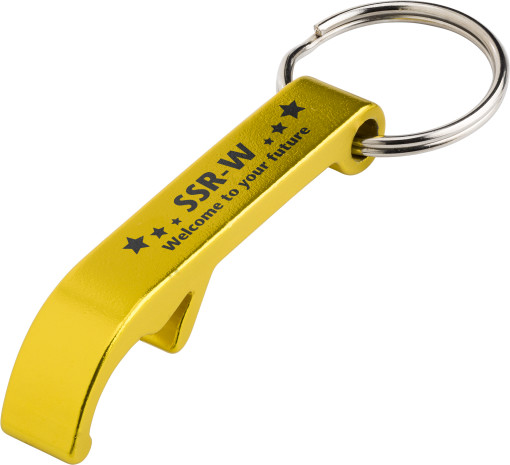 Imprimer l'objet publicitaire Ouvre-bouteille avec anneau pour clés